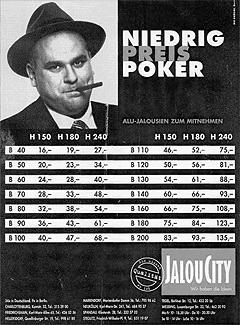Werbung aus dem Jahr 1994: Niedrig Preis Poker