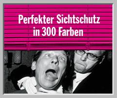 Werbung aus dem Jahr 2000: Perfekter Sichtschutz in 300 Farben