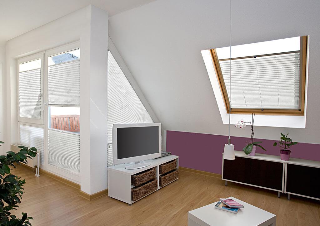 Plissee Weiss Dachfenster 01