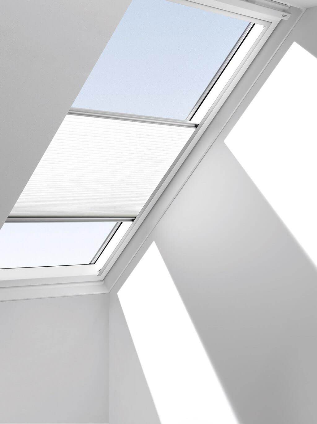 Plissee Weiss Dachfenster 02