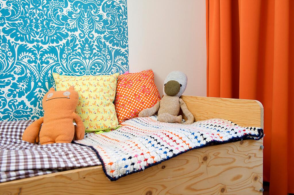 Vorhang Orange Kinderzimmer 01 Detail 02