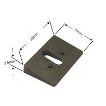 Ausgleichskeil 11° in braun für Cosiflor Plissees adaptierbar (– 44°)