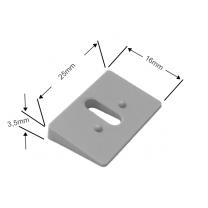Ausgleichskeil 11° in grau für Cosiflor Plissees adaptierbar (– 44°)