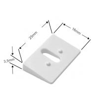 Ausgleichskeil 11° in weiss für Cosiflor Plissees adaptierbar (– 44°)