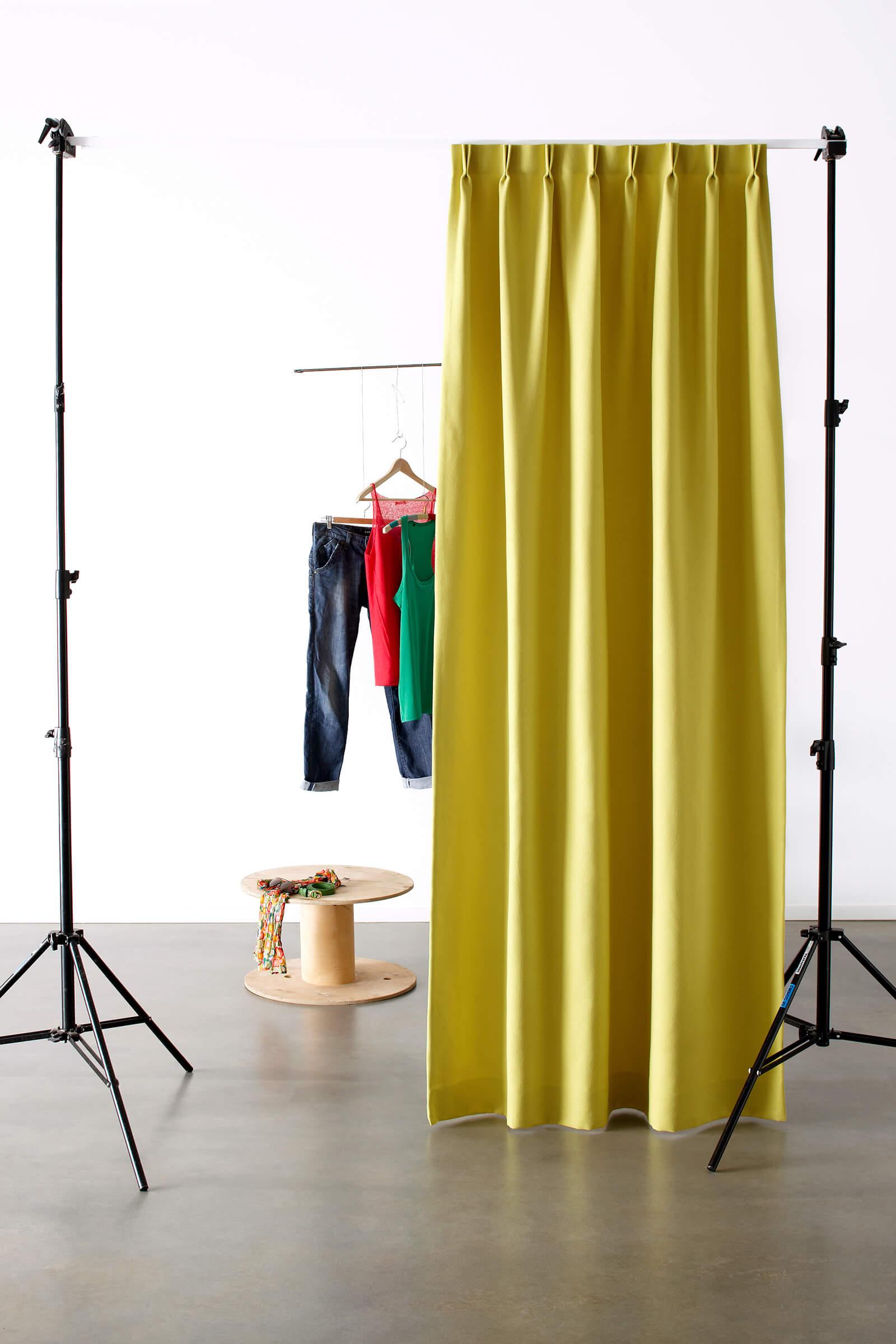Schallschutzvorhang Farbe Gelb Umkleide