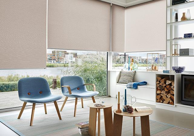 Premium Rollos von Luxaflex als Raumteil oder Sichtschutz