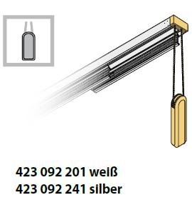 Flächenvorhang Bedienvariante mit Schnurzug