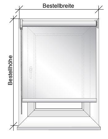 Darstellung Rollo Montage in der Fensternische