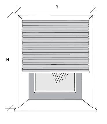 Maßnehmen für Montage in der Fensternische