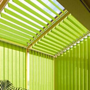 Dachflächen Lamellenvorhang