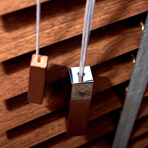 Edle Schnur- und Kettenbeschwerer aus Holz und Metall