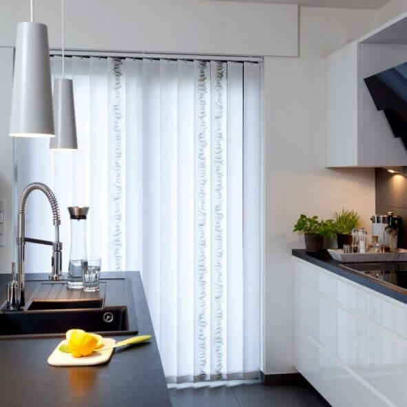 Lamellenvorhänge creativprint in der Küche