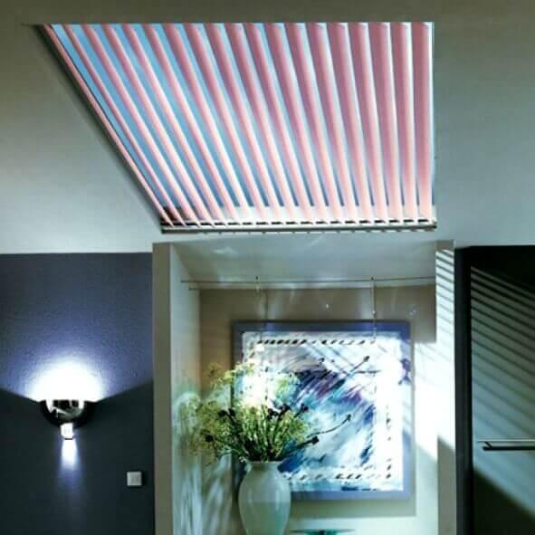 Lamellenvorhänge für Dachflächen Oberlicht Highlight