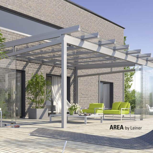 Terrassenglassystem AREA classic von LEINER als Wohnraumerweiterung