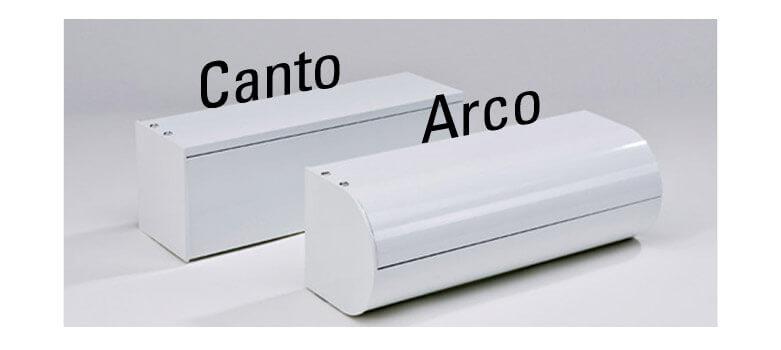 Senkrechtmarkise in zwei Ausführungen: Canto SF und Arco SF