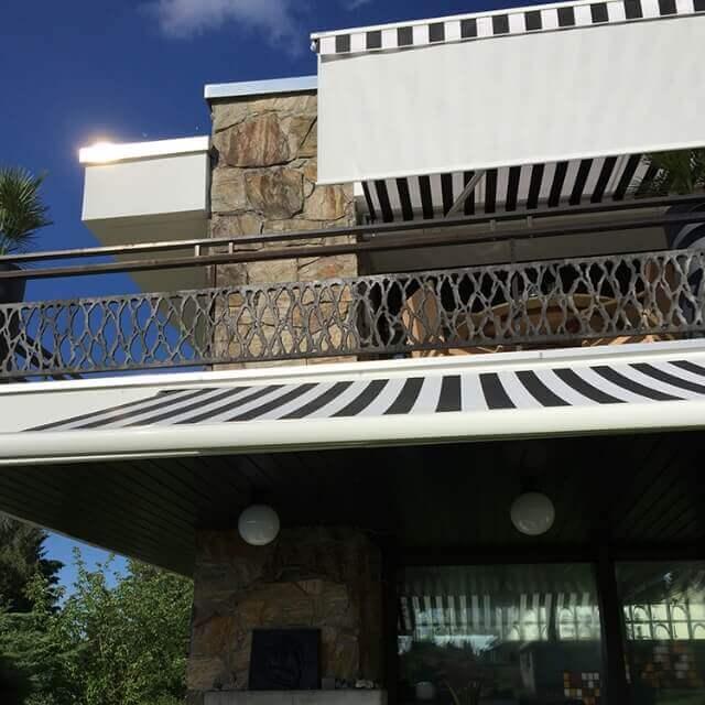 CAPRI Markise für eine überdachte Terrasse