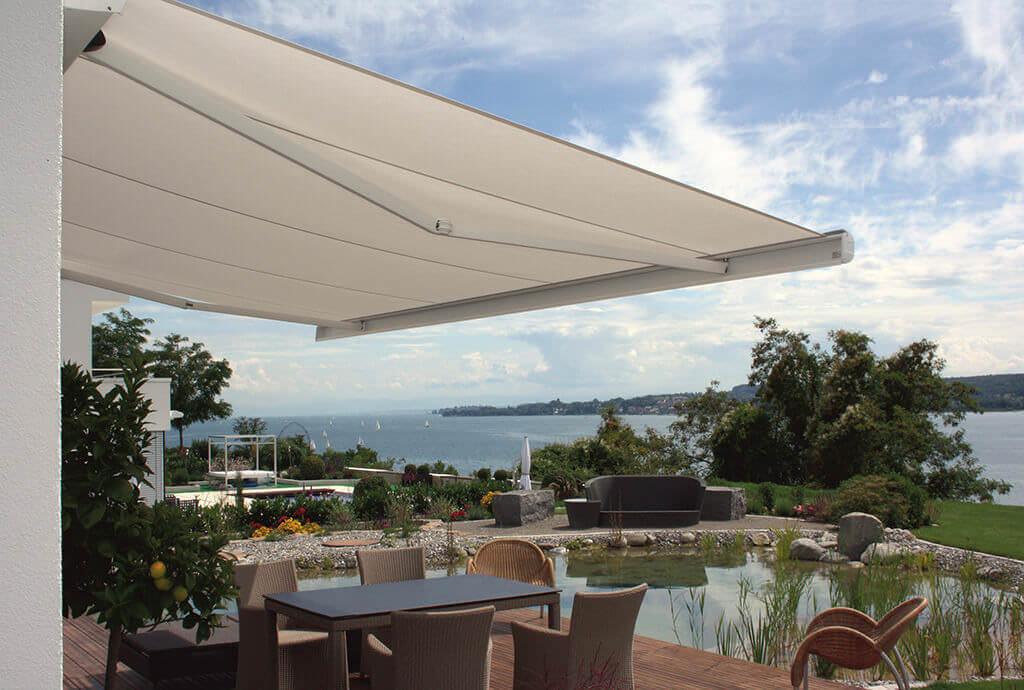 Optimale Terrassen-Beschattung mit der Como Kassettenmarkise