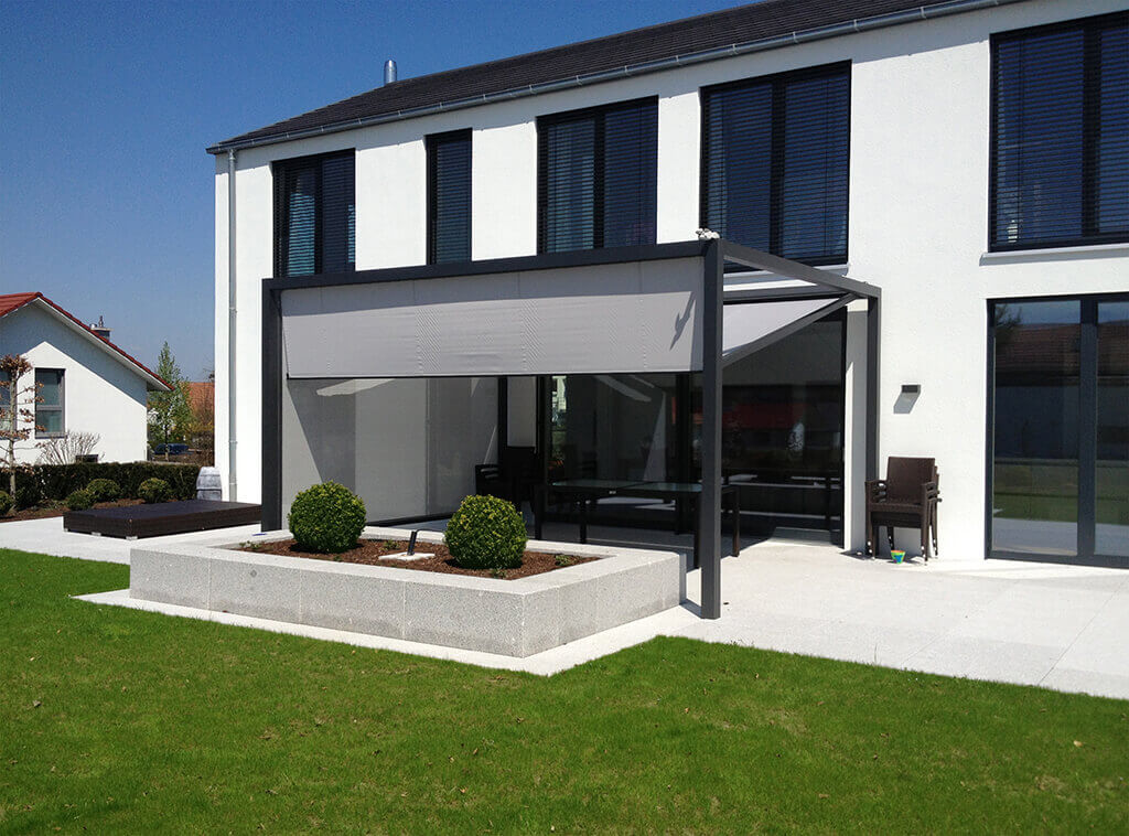 freistehende markisen hochwertiges beschattungssystem. Black Bedroom Furniture Sets. Home Design Ideas
