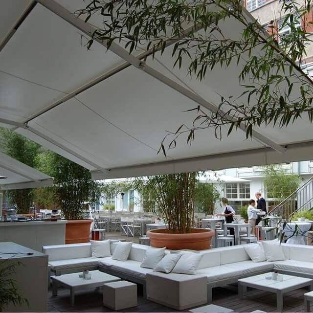 Sunrain Regenmarkise für Gastronomiebetriebe