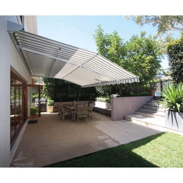 SUNSRAIN Regenmarkisen zum Schutz vor Sonne, Regen und neugiereigen Blicken für große Terrassenflächen