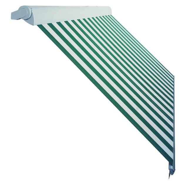Markise Ventura Trend grün gestreift