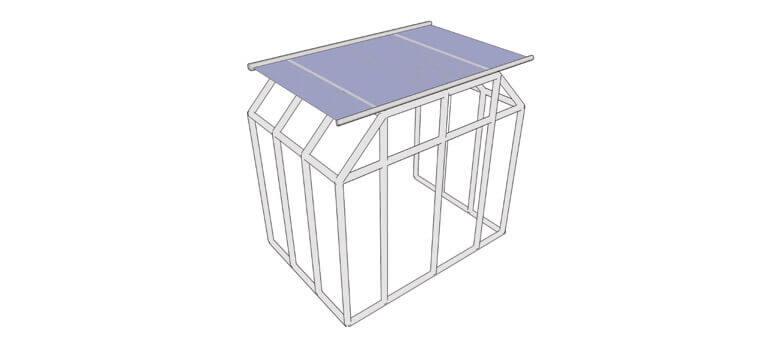Wintergartenbeschattung WGB EF für die Beschattung abgewalmter und abgeschrägter Glasflächen