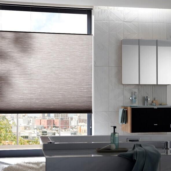 Doppelschnur Plissees - praktisch für Küchenfenster