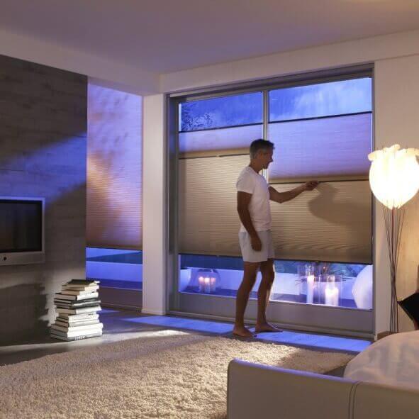 Tag/Nacht-Wabenplissees perfekt für das Schlafzimmer
