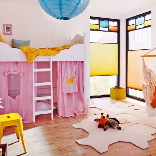 Sichtschutz für das Kinderzimmer mit Wabenplissees
