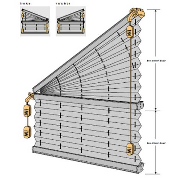 Plissee Sonderform Slope für Trapezfenster