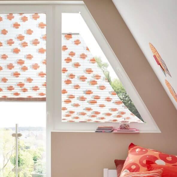 Plissee für Dachfenster Schrägen
