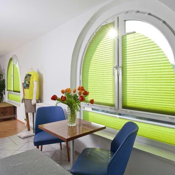 Plissee Sonderform für Rundbogen Fenster