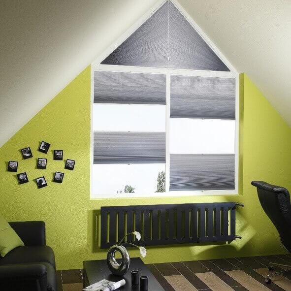 plissees in sonderformen passgenaue plissees nach ma jaloucity. Black Bedroom Furniture Sets. Home Design Ideas