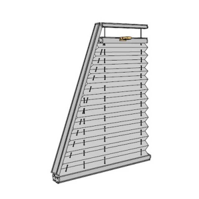 Plissees für Trapezförmiges Fenster, technische Zeichnung