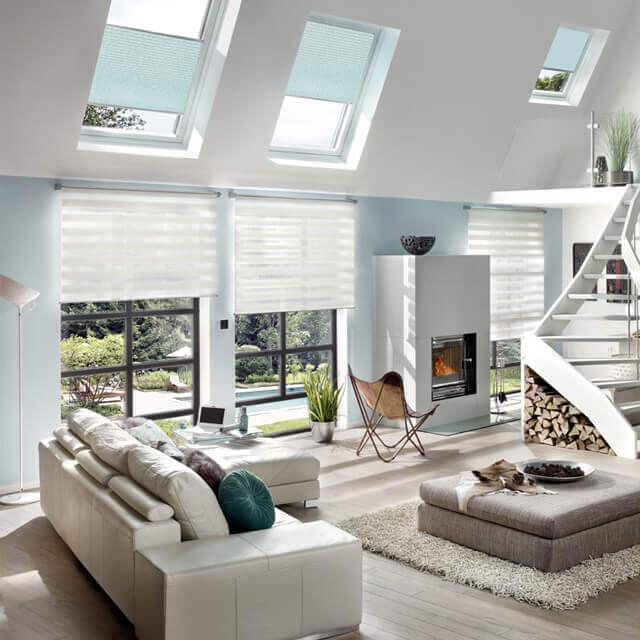 DuoRoll Doppelrollo passend für moderne Räume