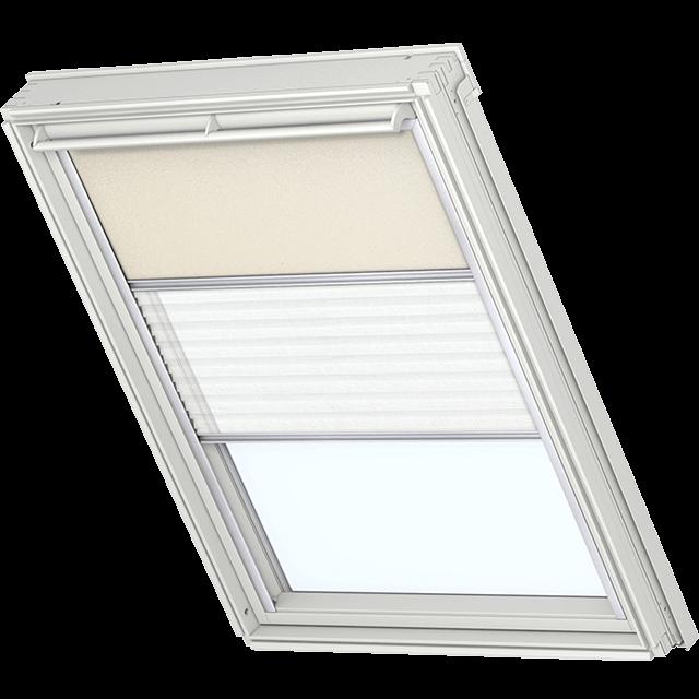 Velux Vorteils-Sets - Verdunkelungsrollo & Faltstore 0002 beige / weiß