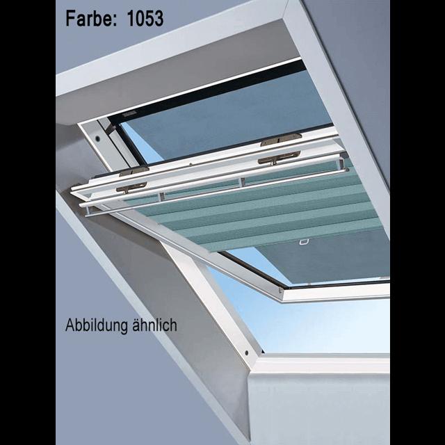 Velux Vorteils-Sets - Markise & Faltstore DuoLine Farbe: 1053 blau/ grün
