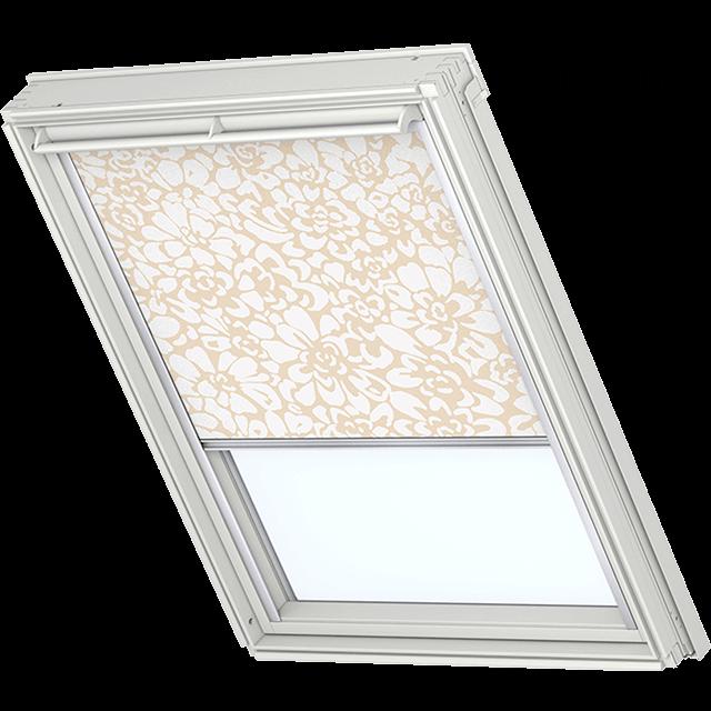 Velux Verdunkelungsrollo Farbe 3111 Muster beige / weiß