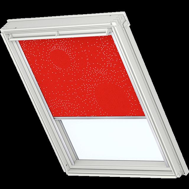 Velux Verdunkelungsrollo Farbe 3123 Muster rot / weiß