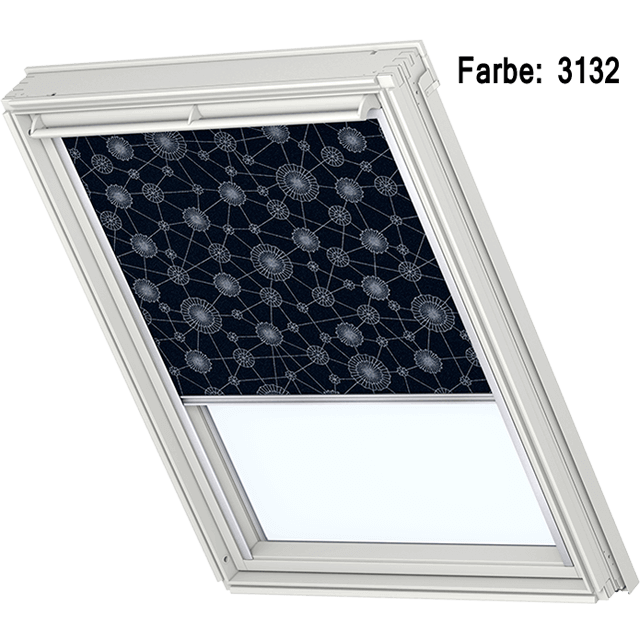 Velux Verdunkelungsrollo Farbe 3132 Muster blau / silber