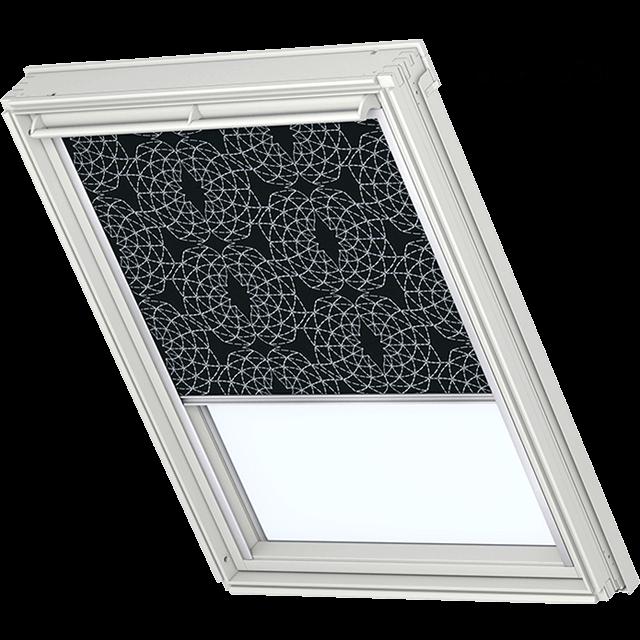 Velux Verdunkelungsrollo Farbe 3180 Muster schwarz / weiß