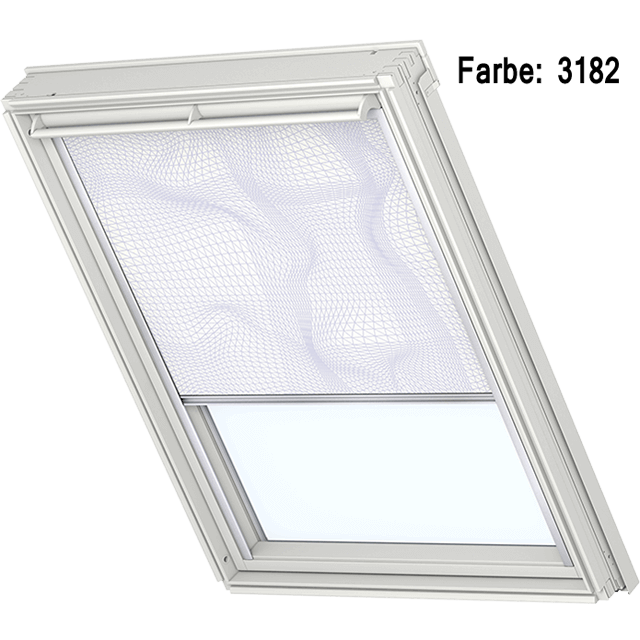 Velux Verdunkelungsrollo Farbe 3182 Muster weiß / lila