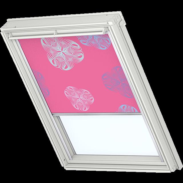 Velux Verdunkelungsrollo Farbe 3184 Muster pink / bunt
