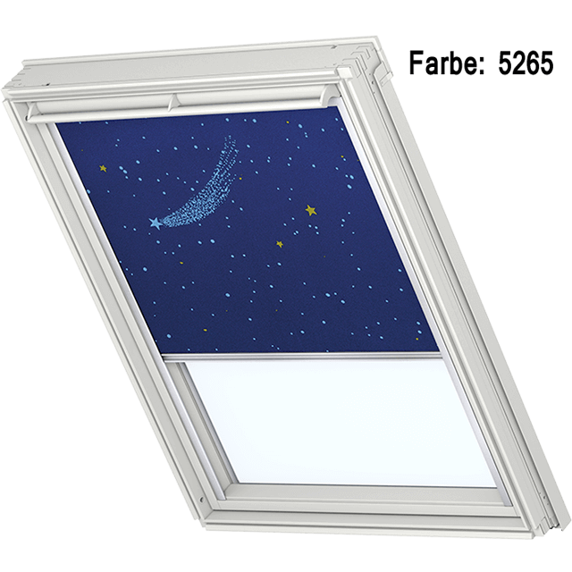 Velux Verdunkelungsrollo Farbe 5265 Muster Sternenhimmel blau