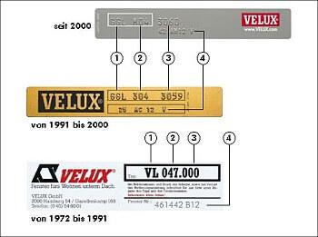 VELUX6 Typenbezeichnung