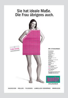 Werbung aus dem Jahr 2004: Sie hat ideale Maße. Die Frau übrigens auch.