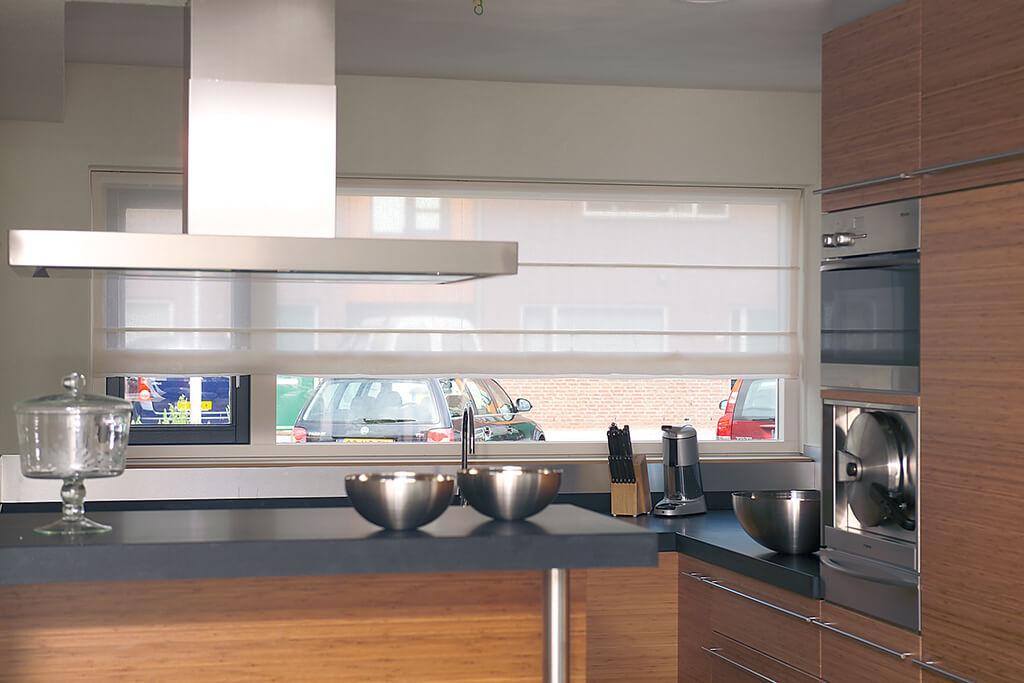 Sichtschutz in der Küche - Vorhänge, Plissees und Rollos