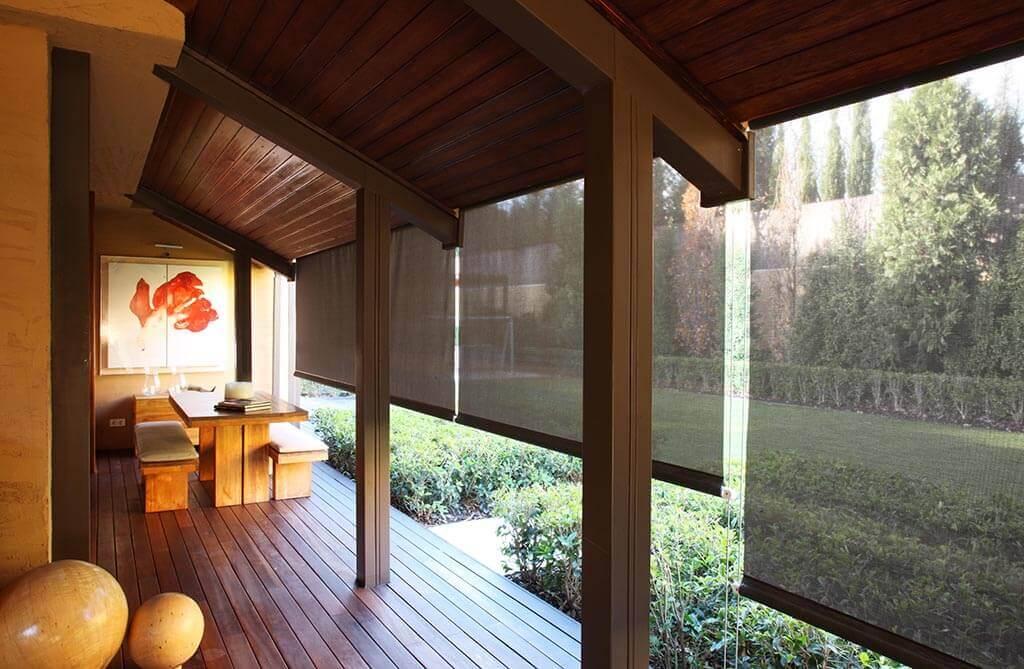 Rollo Bandalux, transparenter Sichtschutz für Ihre Veranda