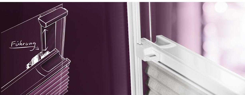 plissees zum kleben plissees ohne bohren und schrauben. Black Bedroom Furniture Sets. Home Design Ideas