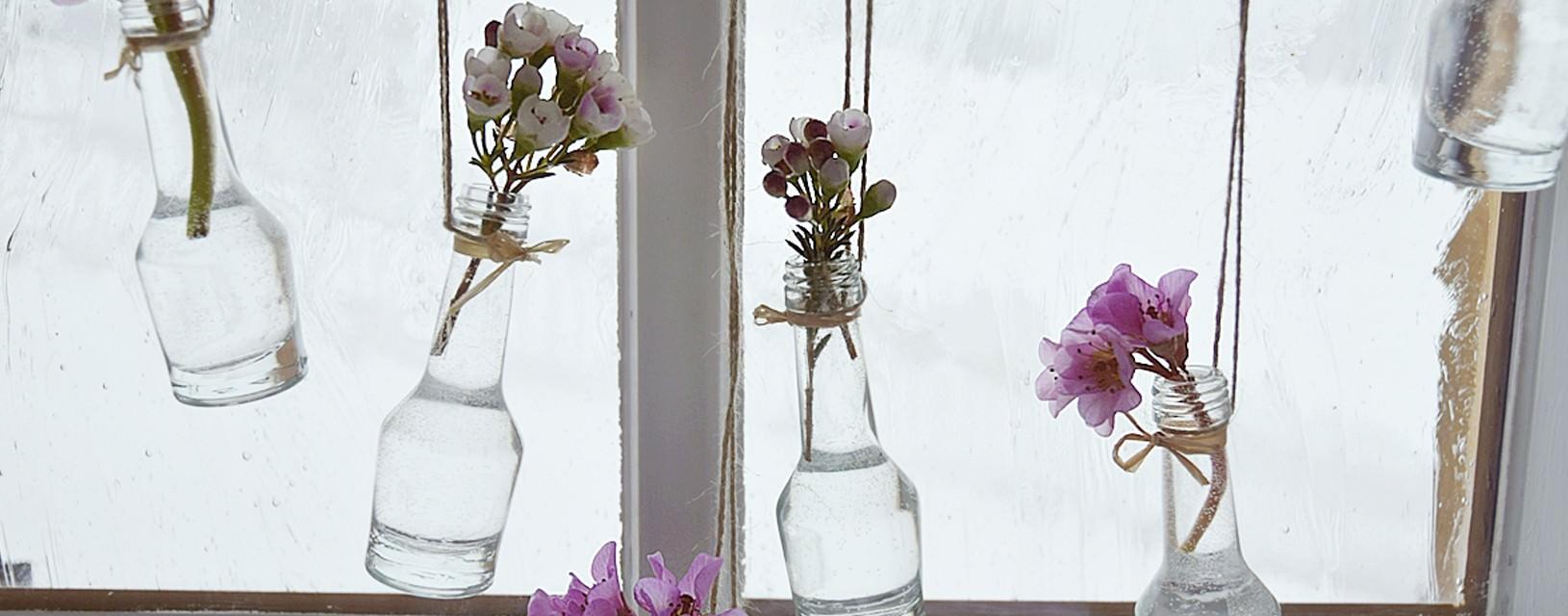 Frühlingshafte Fensterdeko